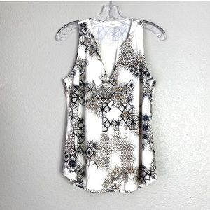 EVEREVE Braeve Sueded Patterned Tank Top (S)?